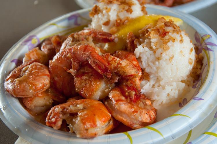 Garlic shrimp from Giovanni