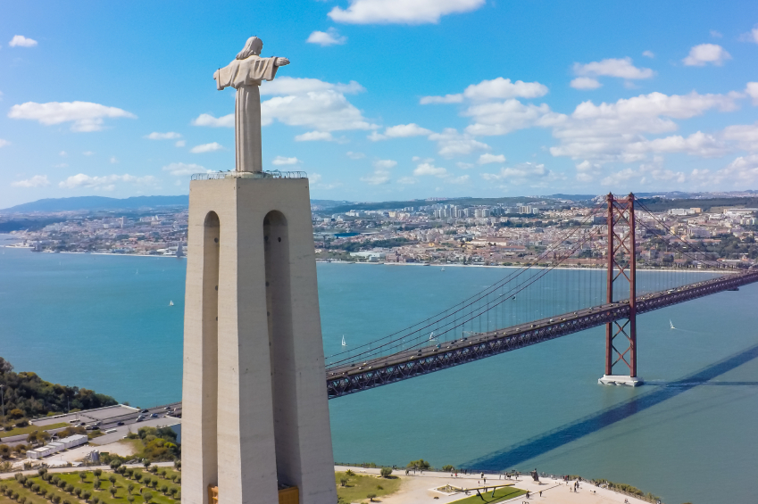 The Cristo-Rei on the banks of the Tagus River, Lisbon. Credit: iStock.com