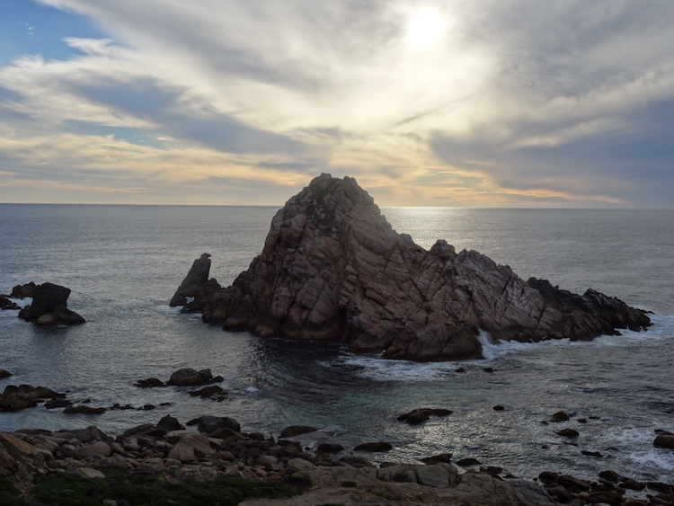 Sunset over Sugarloaf Rock. Photo: Brett Atkinson