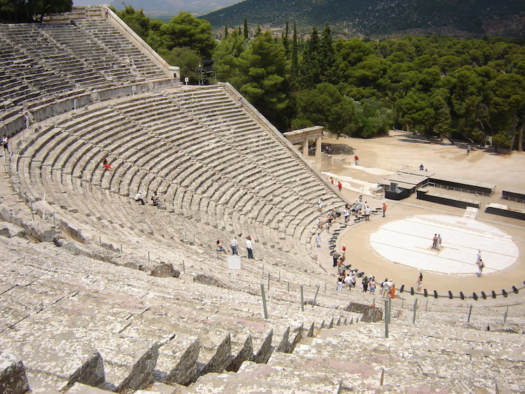 Arrive at Epidaurus early to occupy centre stage. Credit: Diana Noonan