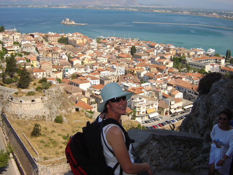 Climb the 913 steps to the Venetian fortress above the elegant town of Nafplio. Credit: Keith Olsen