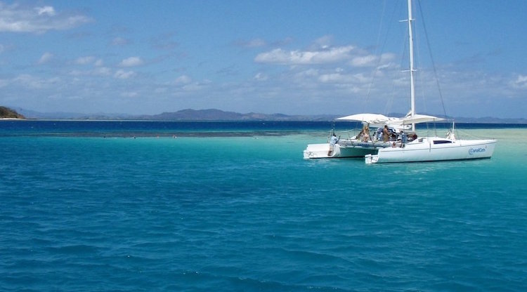 Coral Cats day cruise to Malolo Lailai. Photo: fiji.travel