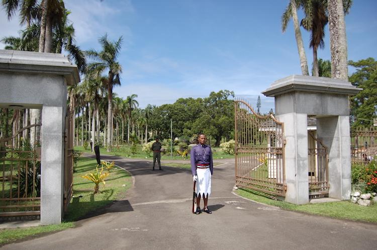 Presidential guard, Suva. Photo: Anna King Shahab