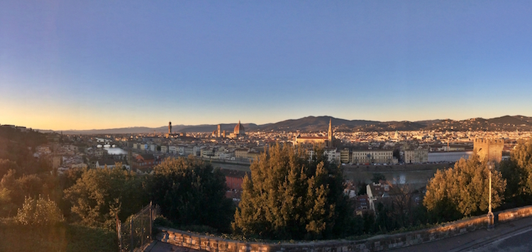 Piazzale Michelangelo at sunset. Photo: Sophie Smith
