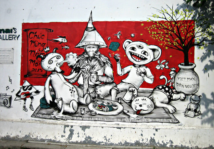 Street art in the Sadec district of Ho Chi Minh. Photo: Flickr.com/princeroy