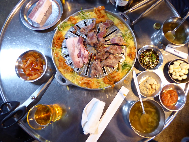 Korean barbecue, Seoul. Photo: Brett Atkinson