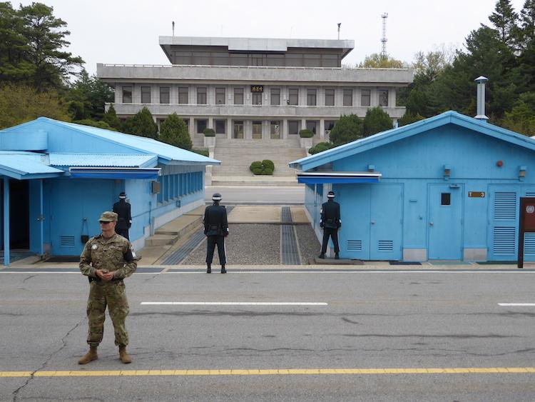 The Joint Security Area, Korean DMZ. Photo: Brett Atkinson