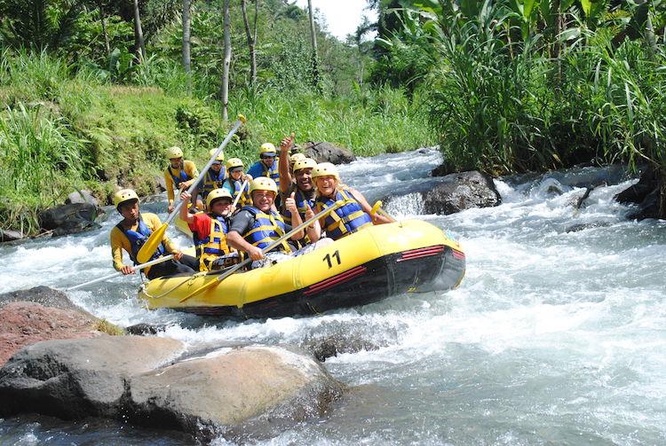 Rafting the Ayung River. Photo: baliuniktours.com