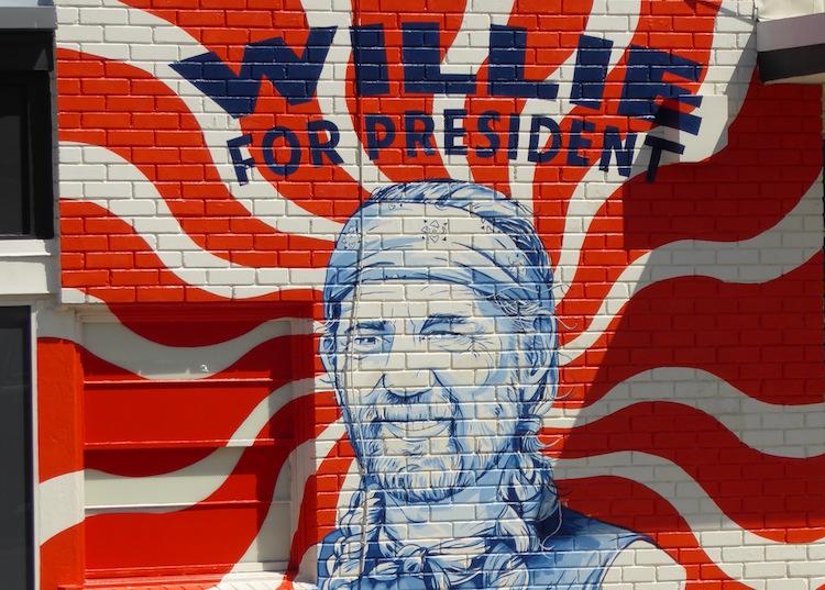A Willie Nelson mural in Austin, Texas. Photo: Brett Atkinson