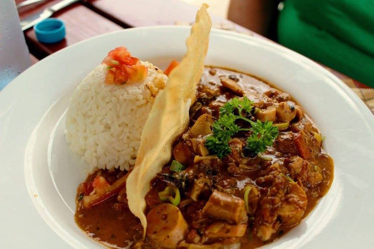 Octopus curry at Cafe Salsa. Photo: supplied