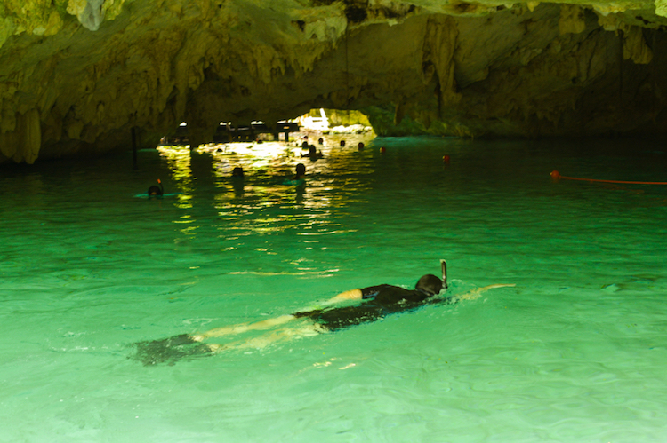 Swimming in a cenote near Tulum. Photo: iStock