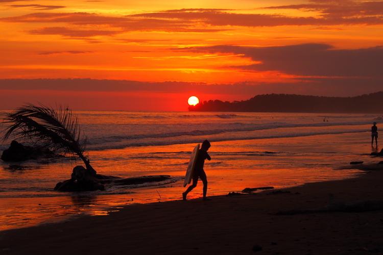 Uvita beach at sunset. Photo: Alexia Santamaria
