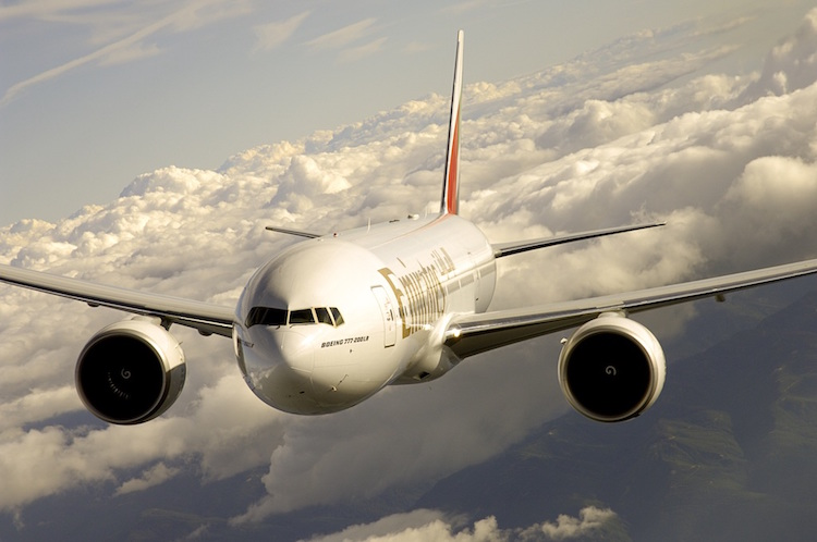 The Emirates Boeing 777-200LR. Photo: supplied