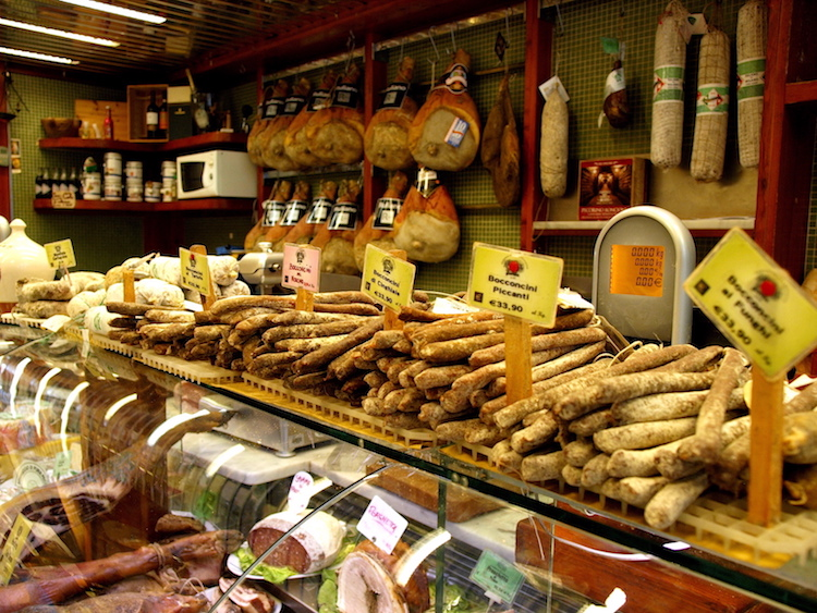 A delicatessen, or alimentari, in Lucca. Photo: Alexia Santamaria