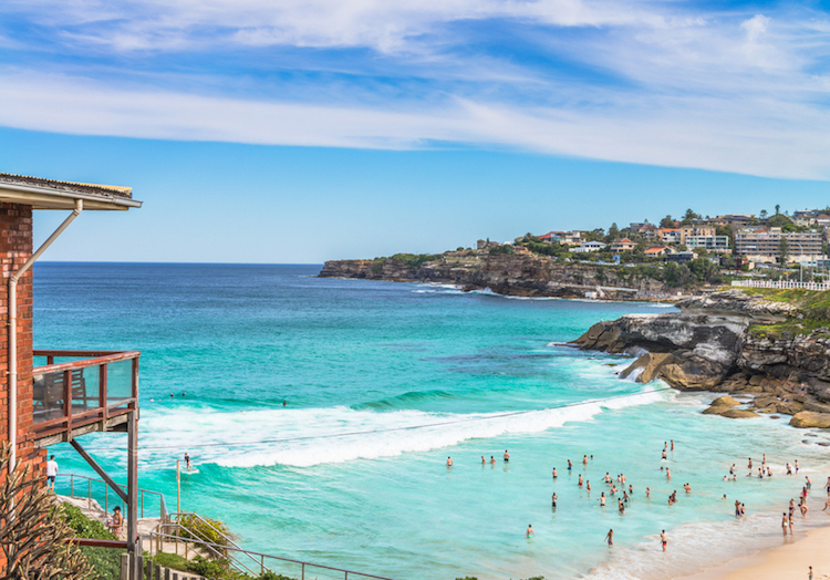 A usual weekend at Tamarama beach, south of Bondi Beach.