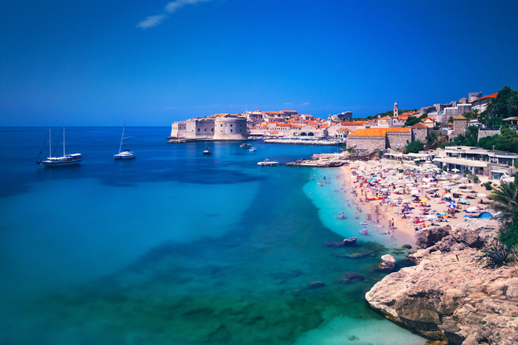 This is a very popular beach in Dubrovnik old town for both tourists and locals alike, especially as it overlooks the famous old town which HBO