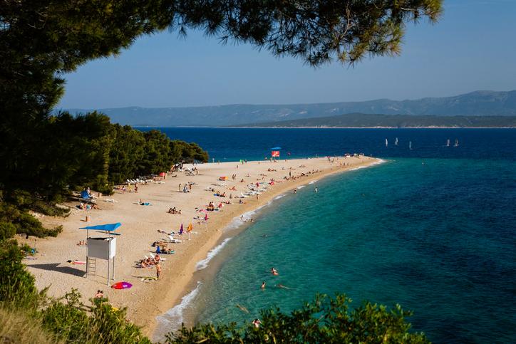 Zlatni Rat Beach, Bol, Brac Island, Dalmatia, Croatia, Adriatic Sea, Mediterranean, Europe