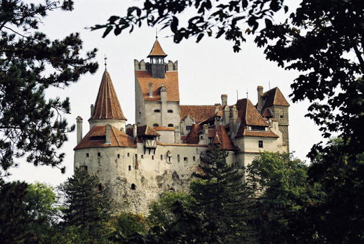 BRASOV, ROMANIA - JUNE 23, 2005:  Bran Castle is being offered for sale to the Brasov County Council by the U.S.-based owner, Dominic von Habsburg who is a descendant of the Romanian royal family June 23, 2005 in Brasov, Romania. The castle built by the Teutonic knights in 1212 was used briefly by Romanian ruler Vlad the Impaler who was partly the inspiration for Bram Stoker