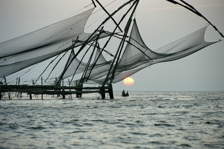 Chinese fishing nets, Kerala. Photo via Brett Atkinson