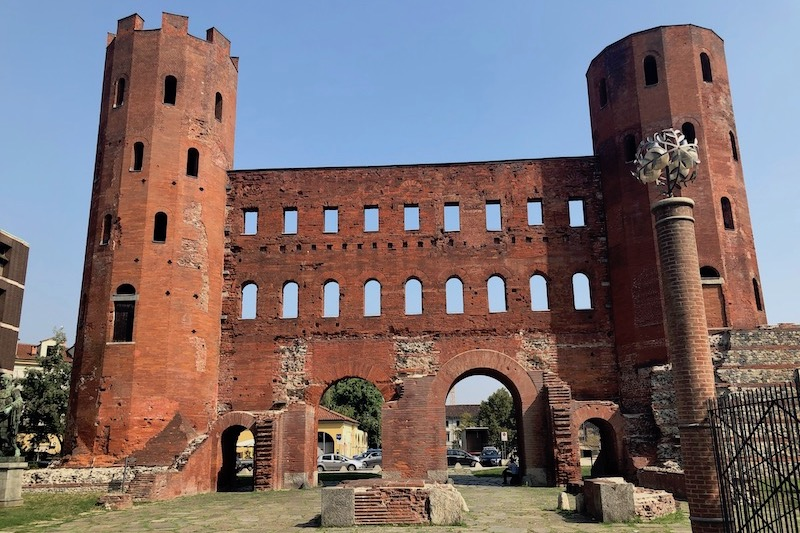 The ancient Palatine Gate, Turin