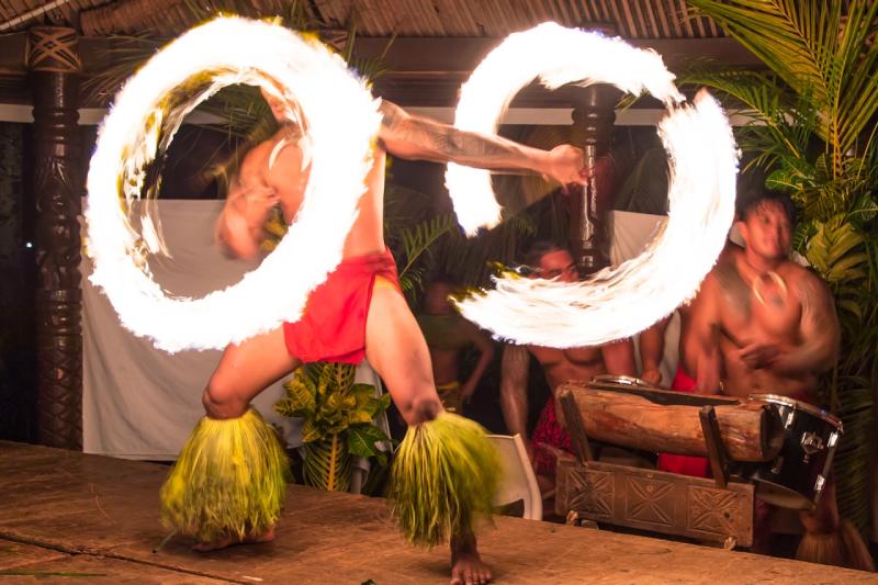 Fire Dancing Fiafia Show Samoa