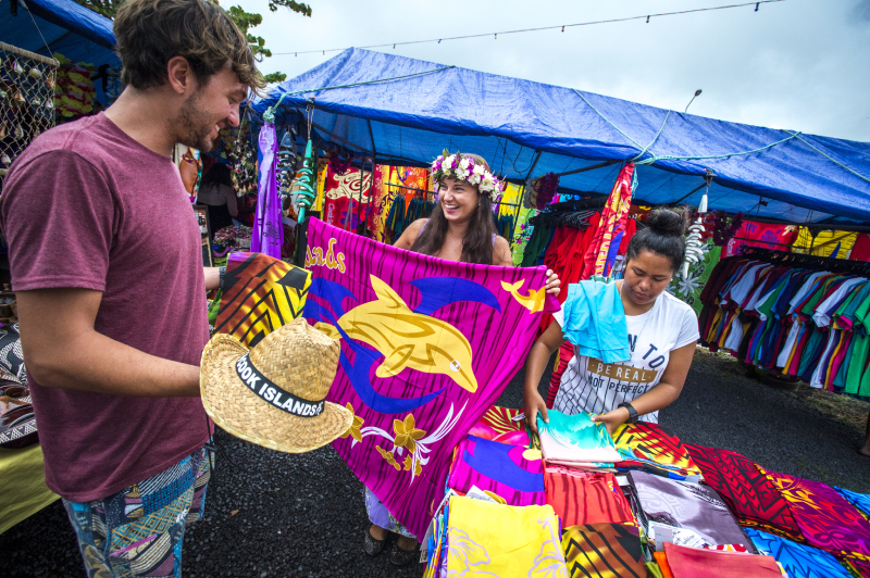 Shopping at the Rarotonga Punanga Nui Market