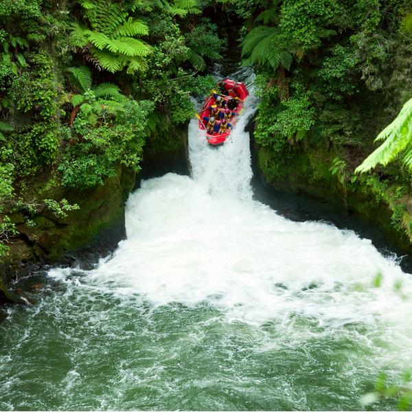 Whitewater rafting in Rotorua.