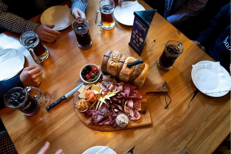 Malthouse platter and beers at Speight's Brewery, Dunedin