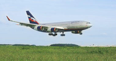 Aeroflot in the sky