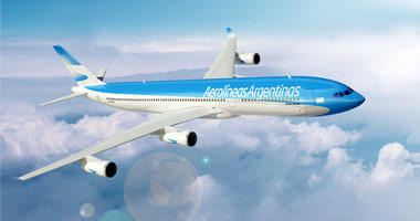 Aerolineas Argentinas in the sky