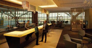 BA Lounge at Heathrow Airport