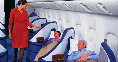 Delta Airlines flat beds