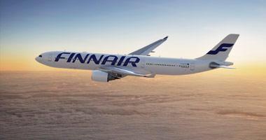 Finnair in the sky
