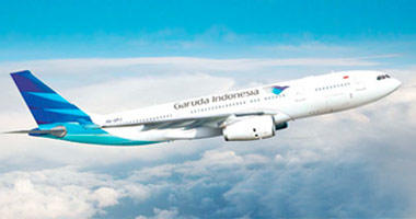Garuda Indonesia in the sky