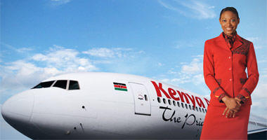 Kenya Airways flight attendant