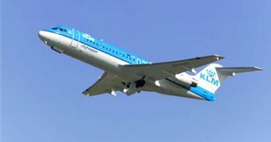 KLM Airlines in the sky