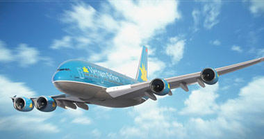 Vietnam Airlines in the sky