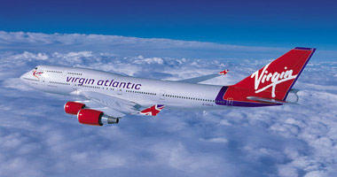 Virgin Atlantic in the sky