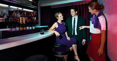 Virgin Australia sit down bar
