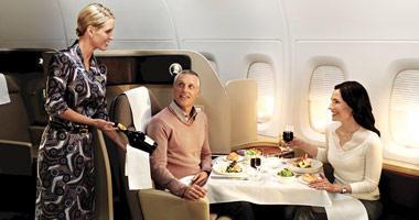 Qantas restaurant style dining