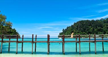 Pier on Sapi Island, Sabah