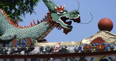 Decorative Dragon at Chinese Temple