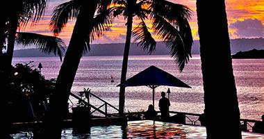 Sunset at Iririki Island Resort