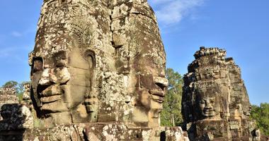 Bayon Stone Faces, Angkor Wat