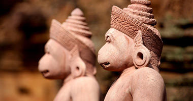 Statues Guarding Banteay Srei