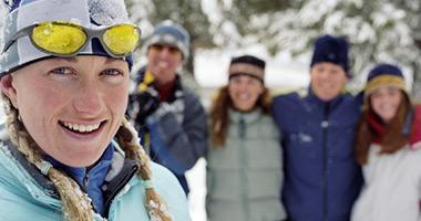 Ski Group in the Alps
