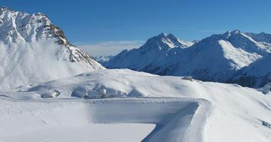 Empty Winding Ski Run