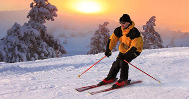 Hit the Slopes for a Sunset Ski