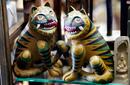 Traditional Artworks in an Insadong Souvenir Shop