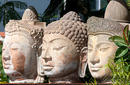 Three Buddha Heads
